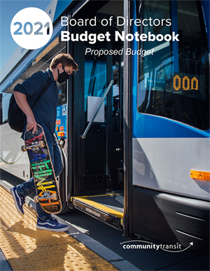 Community Transit 2021 Proposed Budget Notebook Cover