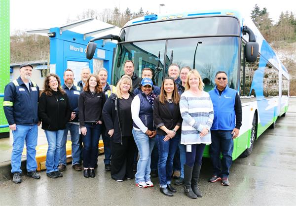 Group shot of Community Transit Procurement Staff at Merrill Creek Base.