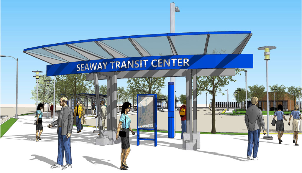 Rendering of the Seaway Transit Center Main Entrance