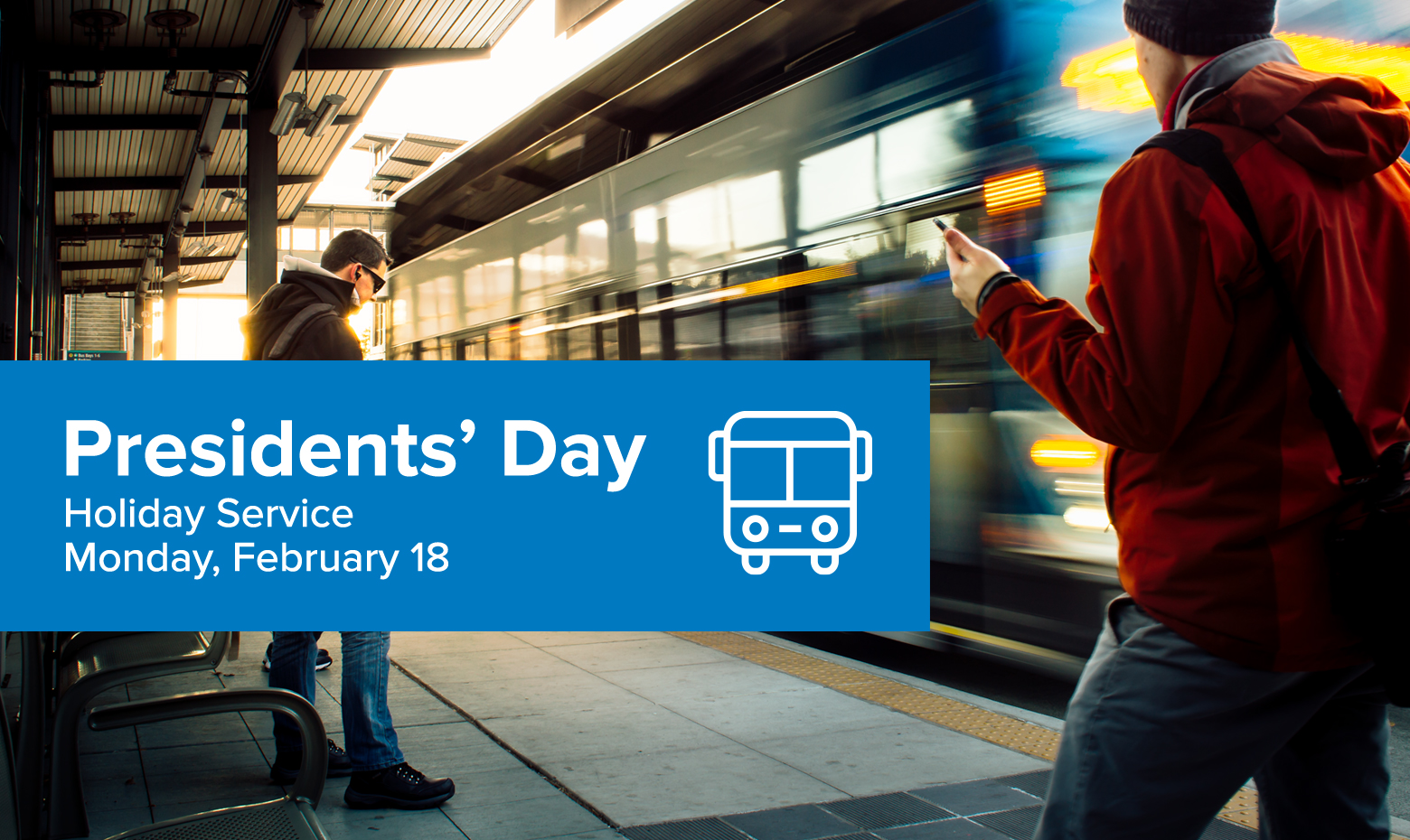 Presidents Day Feb 18 - Limited Commuter Service