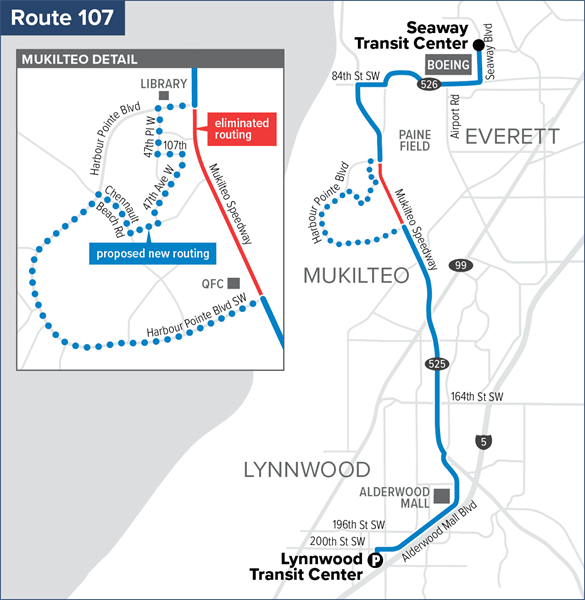 Route 107 Service Proposal for September 2020
