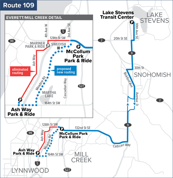 Route 109 Proposal for September 2020 Service Change