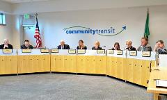 Community Transit Board in session December 2017