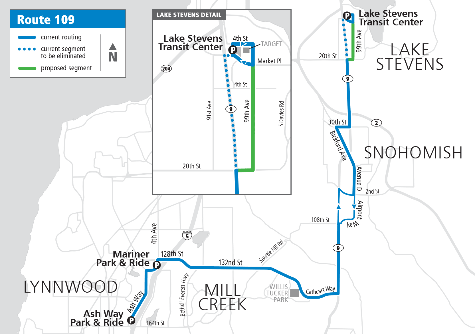 Map Route 109 Proposed