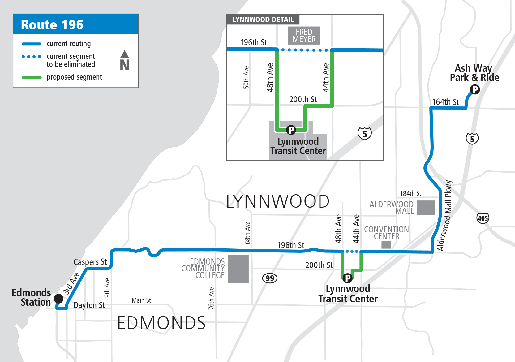 Map Route 196 Proposed