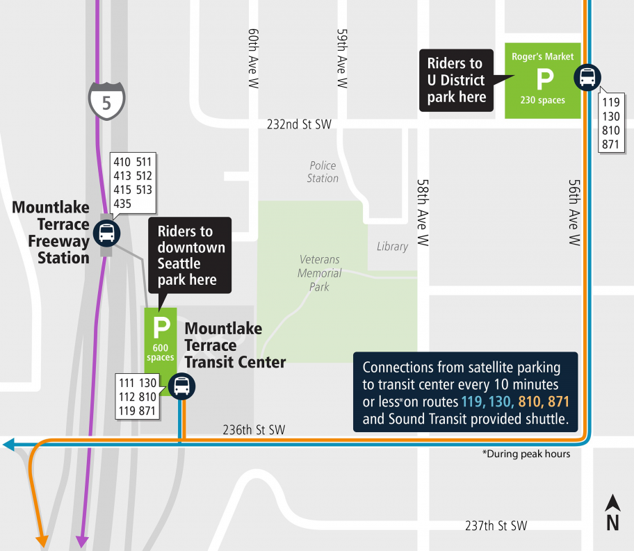 mountlake terrace map surface lot parking changes map