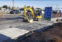Picture showing new curbs along 75th Street SW