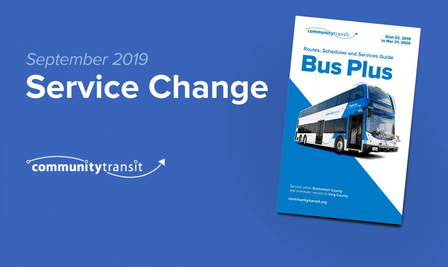 Fall Service Change: New Schedules Start September 22