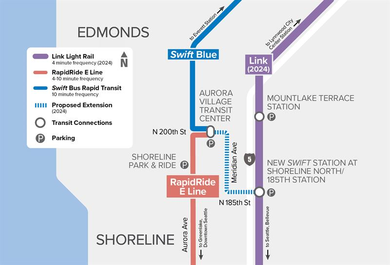 Swift Blue Line Expansion Map as of May 2020
