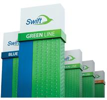 This is a picture of Swift Green Line Signs