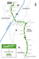Swift Green Line Map