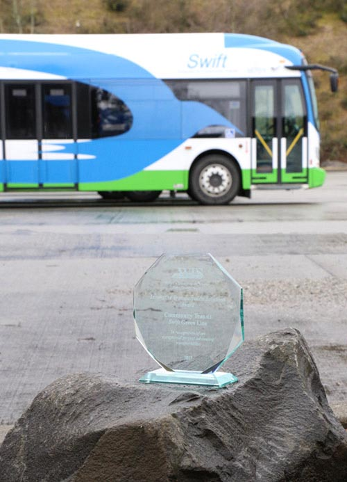 Agency Honored by Women's Transportation Seminar for Swift