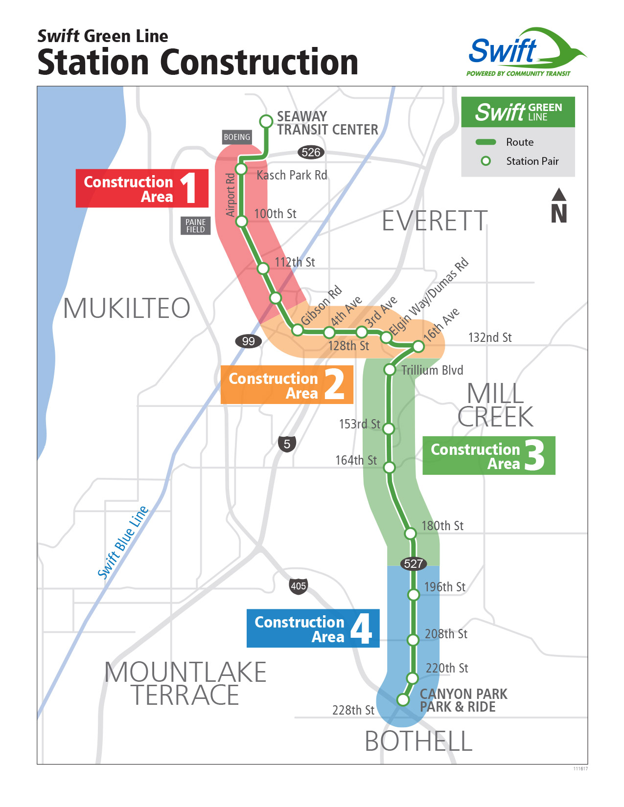 Swift Green Line Construction Zones