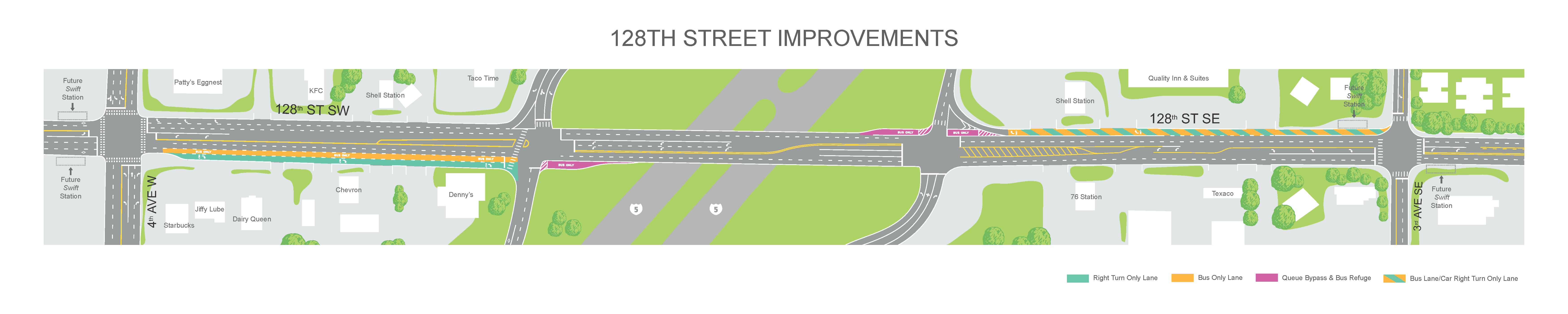 Map showing 128th Street Improvements