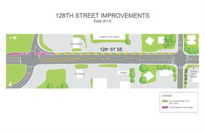 128th Street Improvements_Map Rendering_EAST