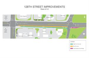 128th Street Improvements_Map Rendering_WEST