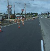 Paving work on 128th St.