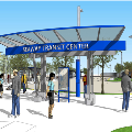 Rendering of Seaway Transit Center Corner Shelter
