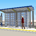 Rendering of Seaway Transit Center Narrow Shelter