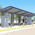 Rendering of Seaway Transit Center Full Shelter