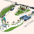 Rendering of Seaway Transit Center Site Aerial View
