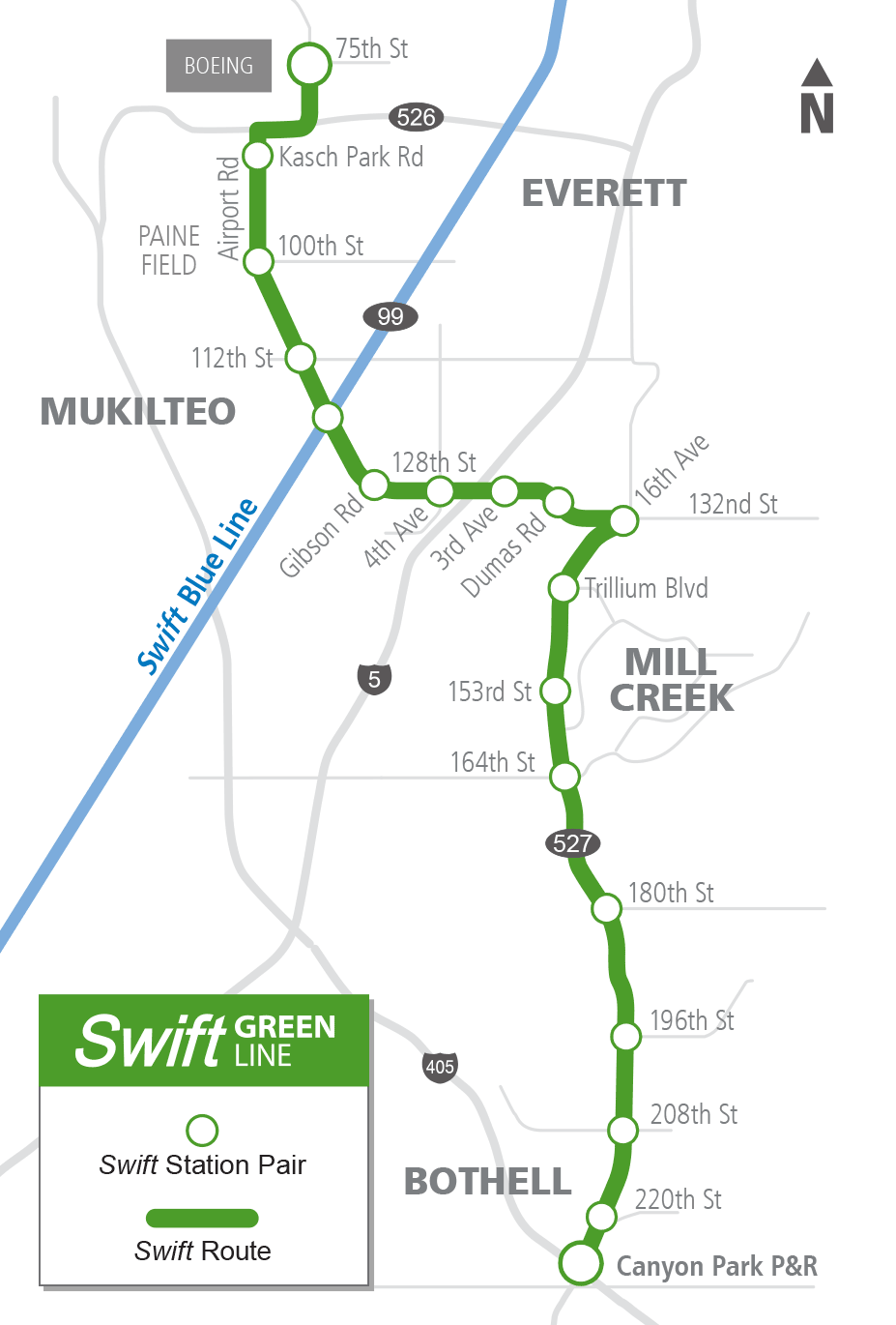 Construction Starts on Swift Green Line Stations on chicago el route map, trax route map, coast starlight route map, pacific electric route map,