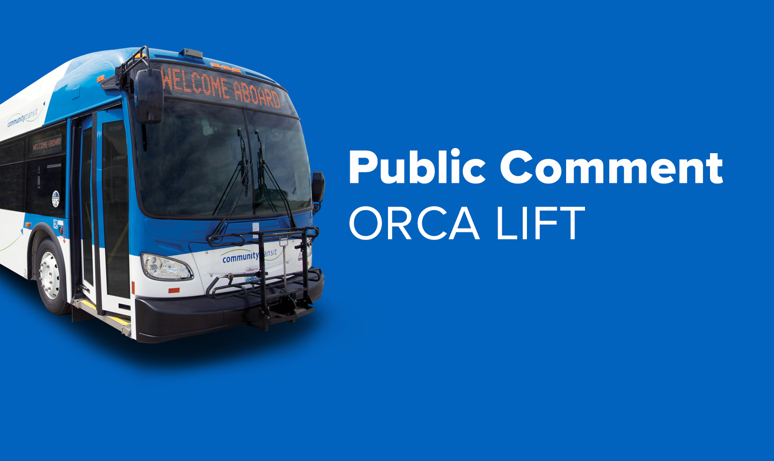 Public Comment Underway for Community Transit's Proposed low-income fare
