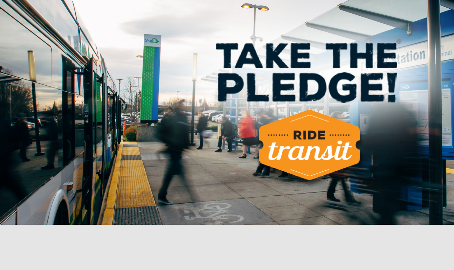 Take the Ride Transit Pledge