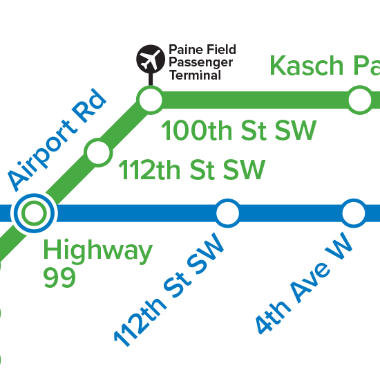 Swift Line Map With Paine Field Stop