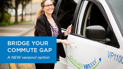 Vanpool Bridge your commute - New Option webpage graphic