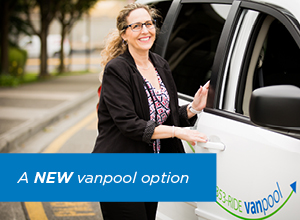 Vanpool Bridge your commute - Vanpool webpage graphic